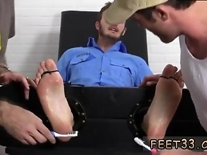 Free hard gay porn videos xxx Officer Christian Wilde Tickled