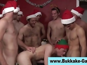 Twink blowjobs ass fuck and bukkake facial